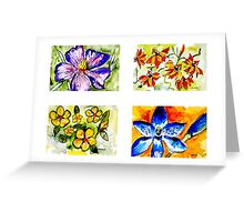 Wildflower Quartet 1 Greeting Card