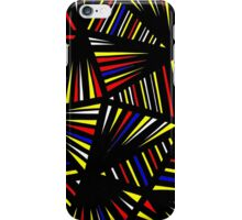 Seyal Abstract Expression Yellow Red Black iPhone Case/Skin