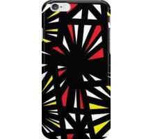 Pricer Abstract Expression Yellow Red Black iPhone Case/Skin