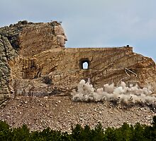Crazy Horse Memorial - Memorial Day Blasting - 2009 by Jonathan Bartlett