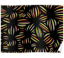 Flourney Abstract Expression Yellow Black Poster
