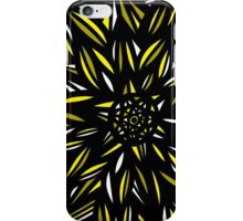 Serr Abstract Expression Yellow Black iPhone Case/Skin