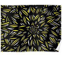 Serr Abstract Expression Yellow Black Poster