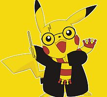 pikachu harry potter by JackCustomArt