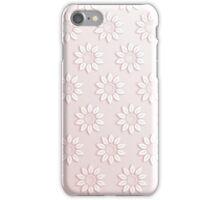 Elegant pink white cute flowers pattern  iPhone Case/Skin
