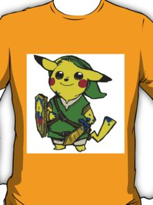 Pikachu pokemon Zelda T-Shirt