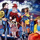 The Circus Family  by Rhinovangogh