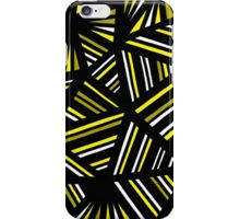 Luptak Abstract Expression Yellow Black iPhone Case/Skin