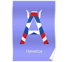 Captain America Helvetica Font Iconic Charactography - A Poster