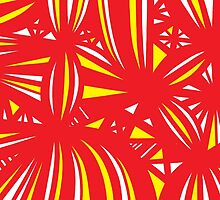 Gehr Abstract Expression Yellow Red by martygraw
