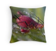 taking the kids for a walk Throw Pillow