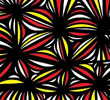Smisek Abstract Expression Yellow Red Black by martygraw