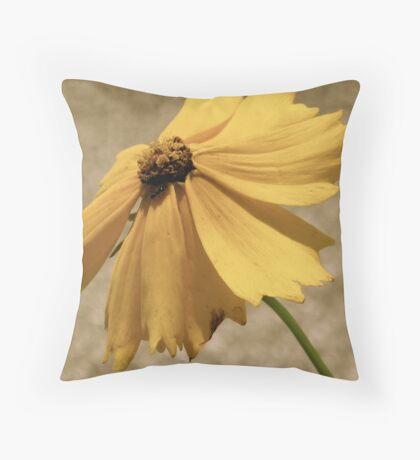 Wild Yellow Flower Throw Pillow