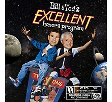 Bill & Ted's Excellent Honors Program (with rating) Photographic Print