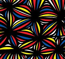 Buland Abstract Expression Yellow Red Blue by martygraw