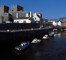 Castle Rushen & Quay, Castletown, I.O.M. by wiggyofipswich