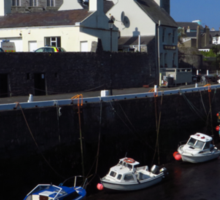 Castle Rushen & Quay, Castletown, I.O.M. Sticker