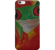 red eyed tree frog (darker version) iPhone Case/Skin