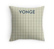 YONGE Subway Station Throw Pillow