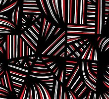 Busenius Abstract Expression Red White Black by martygraw