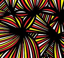 Streifel Abstract Expression Yellow Red Black by martygraw