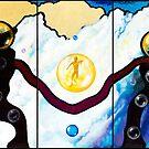 Mercury's Chariot (Triptych) by Rhinovangogh