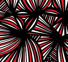 Larocco Abstract Expression Red White Black by martygraw