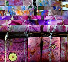 Altered Art Weaving Detail 1 by Dana Roper