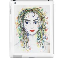 Rainbow haired elfette  iPad Case/Skin