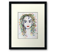 Rainbow haired elfette  Framed Print