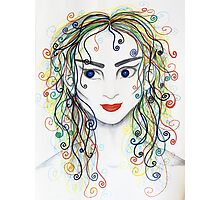 Rainbow haired elfette  Photographic Print