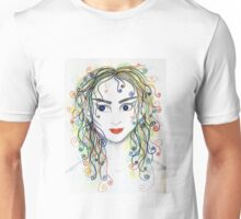 Rainbow haired elfette  Unisex T-Shirt