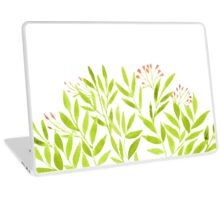 Watercolor flowers, branches and leaves. Laptop Skin