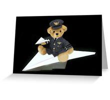 Ƹ̴Ӂ̴Ʒ COME FLY WITH ME I'M A BEARY GOOD PILOT Ƹ̴Ӂ̴Ʒ Greeting Card