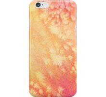 Red and yellow watercolor texture. iPhone Case/Skin