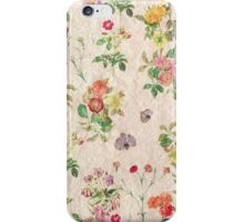 Vintage chic yellow pink cute floral pattern  iPhone Case/Skin