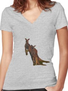 Kangaroos T Women's Fitted V-Neck T-Shirt