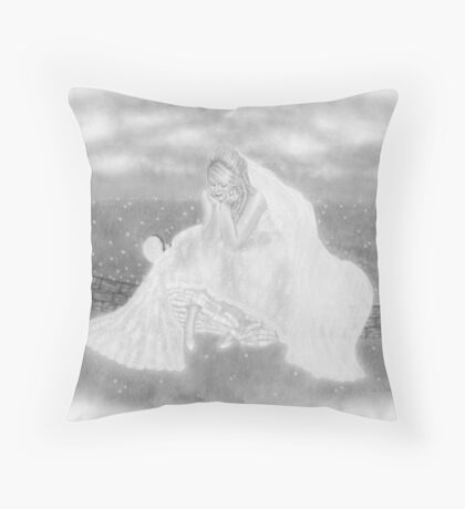 A Moment For The Bride Throw Pillow