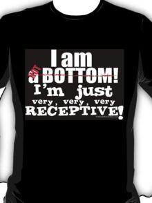 I'M NOT A BOTTOM - BLACK T-Shirt