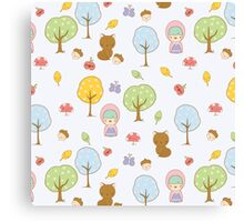 Cute Forest Friends Canvas Print