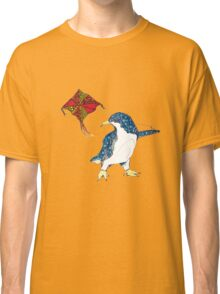 Penguin with a kite Classic T-Shirt