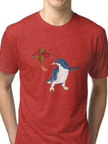 Penguin with a kite Tri-blend T-Shirt