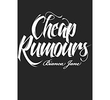 Cheap Rumours White #3 Photographic Print