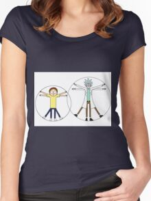 Rick and Morty da Vinci Women's Fitted Scoop T-Shirt