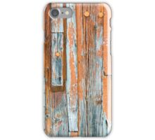 Wood door texture iPhone Case/Skin