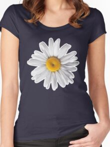Daisies & Peaches - Daisy Pattern on Pink Women's Fitted Scoop T-Shirt