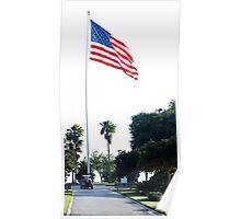 Memorial Island Flag Poster