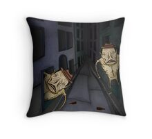 Monster Alley Throw Pillow