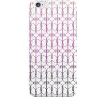Girly Pink Gradient Glitter Trendy Quatrefoil iPhone Case/Skin