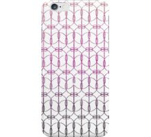 Girly Pink Gradient Glitter Trendy Quatrefoil iPhone Case/Skin